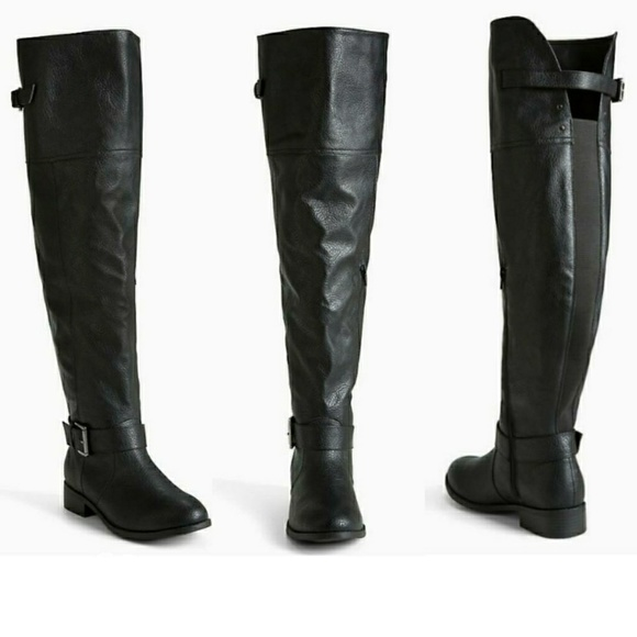829918747ab ... THIS ITEM IS SOLD! Torrid - Faux leather over-the-knee boots.  M 5c6100673c9844b326b1e471